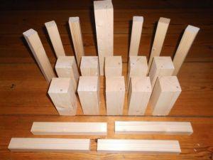 wikingerschach streifenholz unverarbeitet, ungeschliffen