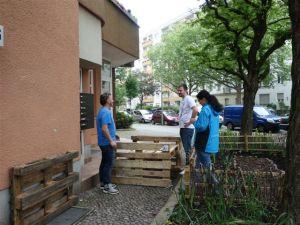 streifenholz - garten zum mitnehmen, Palettenbank - DSC04242