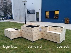 Hochbeet 2lagerbox standard übereck